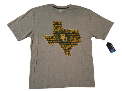 Shop Baylor Bears Colosseum Gray Texas State Outline Short Sleeve Crew T-Shirt (L)