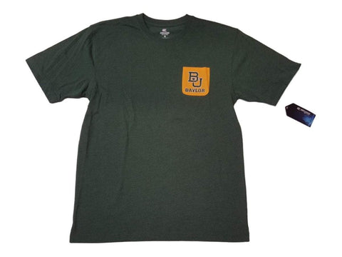 Shop Baylor Bears Colosseum Green with Yellow Pocket Short Sleeve Crew T-Shirt (L)