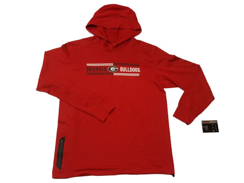 Georgia Bulldogs Colosseum Red Soft Long Sleeve Hooded Pullover (L)