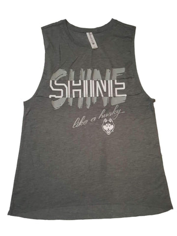 "Shop UCONN Huskies Colosseum WOMEN'S Gray ""Shine Like a Husky"" Bro Tank (S)"