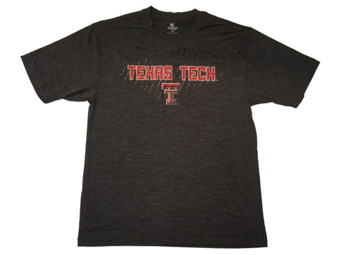 Shop Texas Tech Red Raiders Colosseum Charcoal Gray Performance SS Crew T-Shirt (L)