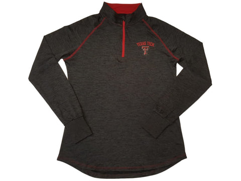 Shop Texas Tech Red Raiders Colosseum WOMEN Gray 1/4 Zip Performance LS Pullover (L)