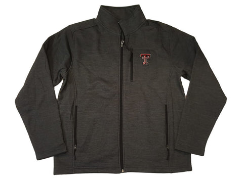 Shop Texas Tech Red Raiders Colosseum Charcoal Gray Full Zip Performance Jacket (L)