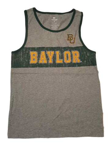 Shop Baylor Bears Colosseum YOUTH Boy's Gray Distressed Logo Tank Top 12-14 (M)