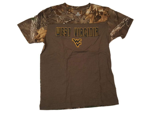 West Virginia Mountaineers Colosseum YOUTH Boy's Realtree SS T-Shirt 12-14 (M)