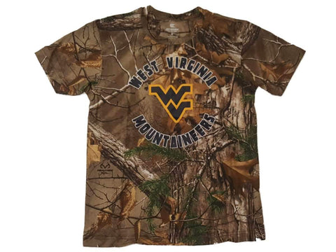 West Virginia Mountaineers Colosseum YOUTH Boy's Realtree Xtra T-Shirt 12-14 (M)