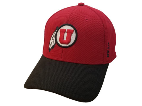 Shop Utah Utes TOW Red & Black Semi-Structured Flexfit Fitted Hat Cap (S/M)