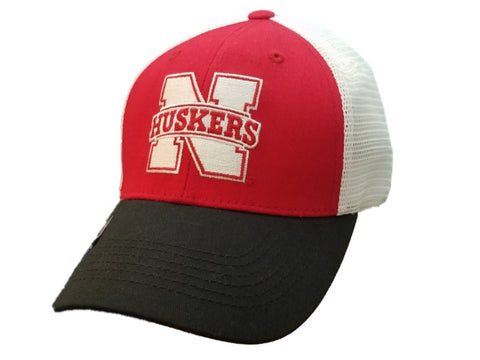 Nebraska Cornhuskers Captivating Headgear Red Mesh Back Adj. Snapback Hat Cap