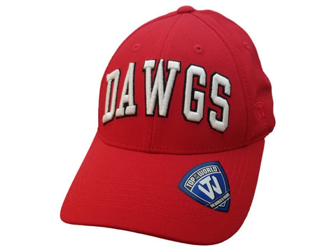 312cac1f36c Shop Georgia Bulldogs TOW Red White   Black Structured Adjustable Snapback  Hat Cap