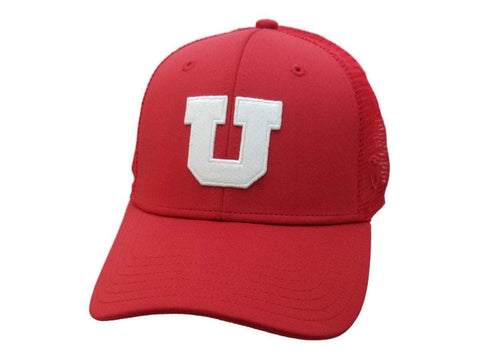 "Shop Utah Utes TOW Red ""Swoop"" Mesh Back Structured Adjustable Snapback Hat Cap - Sporting Up"