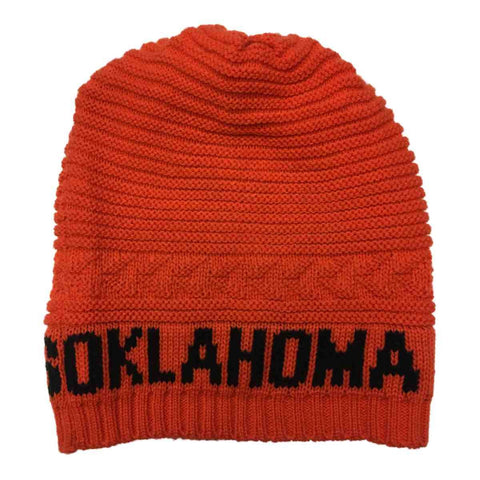 Oklahoma State Cowboys TOW Orange Acrylic Knit Slouch Style Beanie Hat Cap