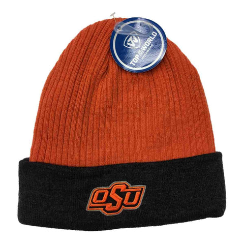 Shop Oklahoma State Cowboys TOW Orange Gray Acrylic Knit Cuffed Skull Beanie Hat Cap