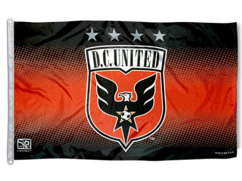 Shop Washington DC United MLS WinCraft Red & Black Deluxe Indoor Outdoor Flag (3'x5')