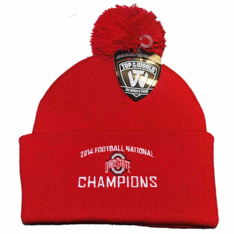 Shop Ohio State Buckeyes 2014 Football National Champions Stocking Cap Hat Beanie - Sporting Up