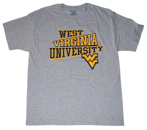 Shop West Virginia Mountaineers Champion Gray Cotton Blend T-Shirt (L)