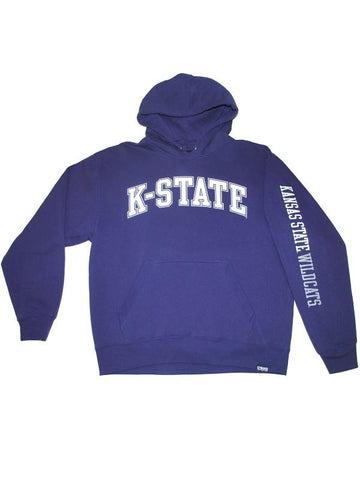 Shop Kansas State Wildcats Gear for Sports Purple Hooded Pocketed LS Sweatshirt (L)