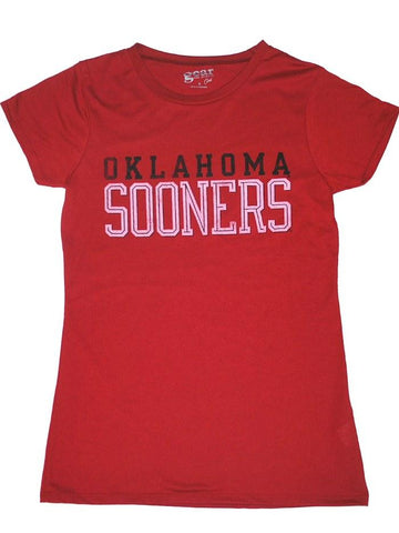 Shop Oklahoma Sooners Gear for Sports Co.ed Women Red Black Short Sleeve T-Shirt (M)