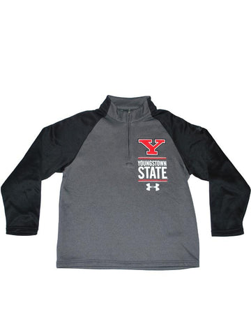 Shop Youngstown State Penguins Under Armour Youth Grey Performance Sweatshirt (M)