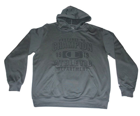 "Shop Champion Charcoal Gray ""Property of Champion"" Performance Hoodie Sweatshirt (XL)"
