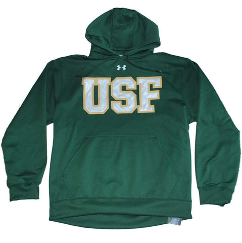 South Florida Bulls Under Armour Green Performance Hoodie Sweatshirt (L)