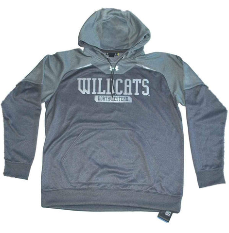 Shop Northwestern Wildcats Under Armour Gray Loose Performance Hoodie Sweatshirt (L)