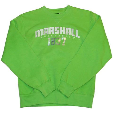 Shop Marshall Thundering Herd Gear for Sports Women Lime Green Sweatshirt (XS)