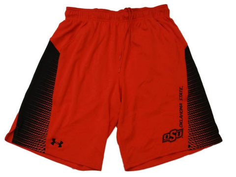 Oklahoma State Cowboys Under Armour Heatgear Orange Athletic Shorts Pockets (L)