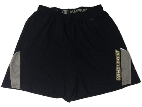Vanderbilt Commodores Champion Black Athletic Running Shorts with Pockets (L)