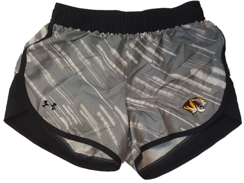 Shop Missouri Tigers Under Armour Heatgear GIRLS Gray Patterned Athletic Shorts (M)
