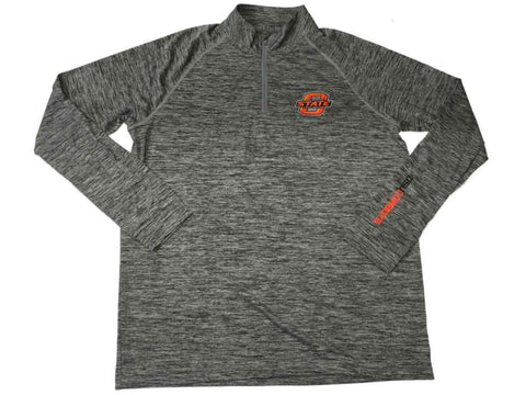 Oklahoma State Cowboys Under Armour UA Gray Static HeatGear 1/4 Zip Pullover (L)