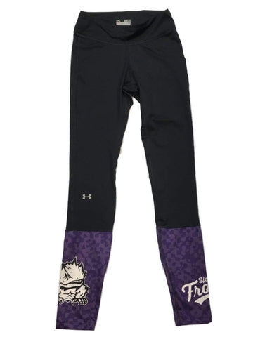 TCU Horned Frogs Under Armour Compression WOMEN Black Legging Pants (S)