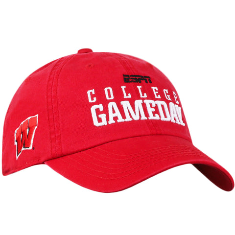 Wisconsin Badgers TOW 2017 ESPN College Game Day Red Slouch Adj Hat Cap