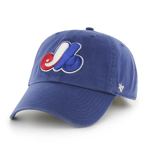 Shop Montreal Expos 47 Brand Blue Clean Up Slouch Relax Adjustable Strap Hat Cap - Sporting Up