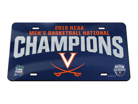 Shop Virginia Cavaliers 2019 NCAA Basketball National Champions Mirror License Plate