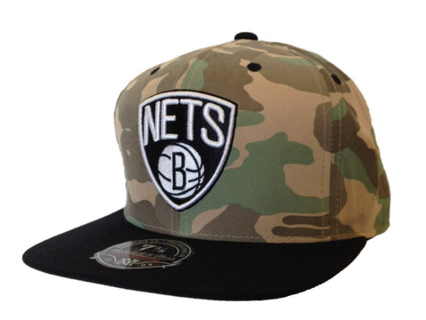 Shop Brooklyn Nets Mitchell & Ness Camo & Black Flat Bill Fitted Hat Cap (7 3/8)