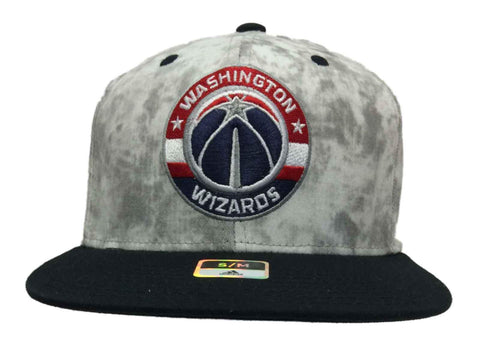 Washington Wizards Adidas Structured Tie Dye Fitted Flat Bill Hat Cap (S/M) - Sporting Up