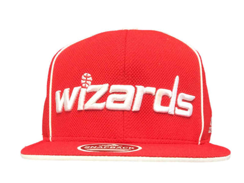 Washington Wizards Adidas Red Structured Adjustable Snapback Flat Bill Hat Cap - Sporting Up