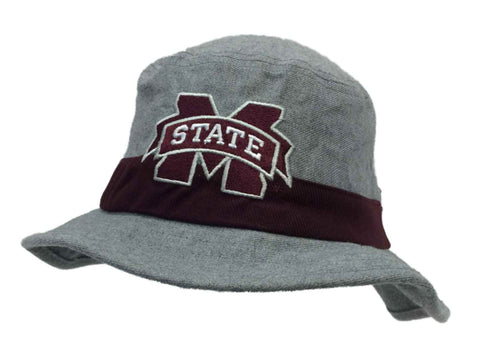 Mississippi State Bulldogs Adidas Gray & Marooon Bucket Hat Cap (S/M)