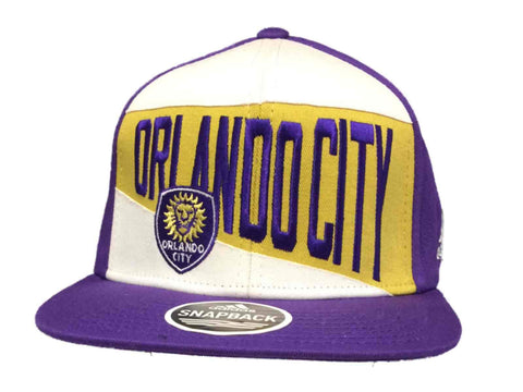 Shop Orlando City SC Adidas Purple & White Structured Snapback Flat Bill Hat Cap