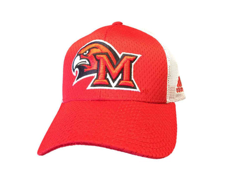 Miami University Redhawks Adidas Red White Mesh Adjustable Snapback Hat Cap