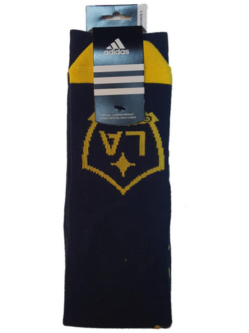 "Los Angeles Galaxy Adidas WOMEN Navy Cursive ""Galaxy"" Tall Crew Socks (One Size)"