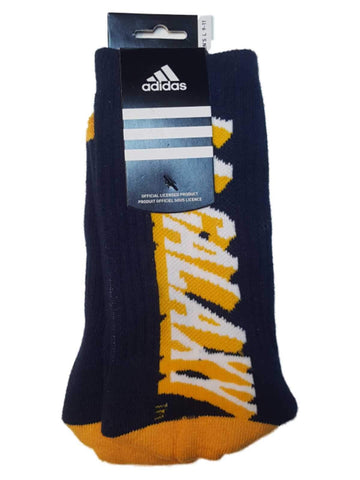 "Los Angeles Galaxy Adidas Navy & Yellow ""LA Galaxy"" Logo Men's Crew Socks (L)"