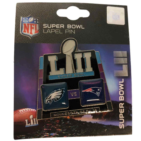 Philadelphia Eagles New England Patriots 2018 Super Bowl 52 LII PSG Dueling Pin