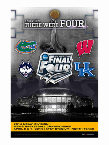 Shop 2014 Official NCAA March Madness Final 4 Teams Logos Basketball Print Poster