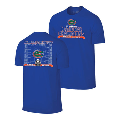 Shop Florida Gators 2017 College World Series CWS Baseball Champions Blue T-Shirt