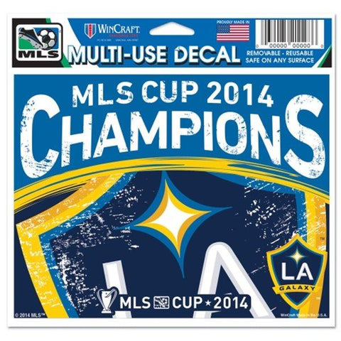 Shop LA Galaxy Los Angeles 2014 MLS Cup Champions WinCraft Multi-Use Ultra Decal - Sporting Up