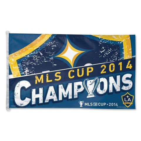 Shop Los Angeles LA Galaxy 2014 MLS Cup Champions WinCraft Blue Yellow Flag (3' x 5') - Sporting Up