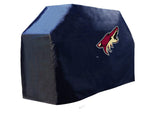 Arizona Coyotes HBS Black Outdoor Heavy Duty Breathable Vinyl BBQ Grill Cover