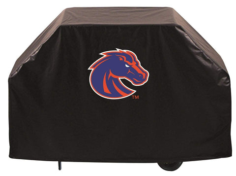 Boise State Broncos HBS Black Outdoor Heavy Duty Vinyl BBQ Grill Cover