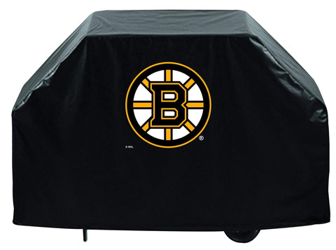 Boston Bruins HBS Black Outdoor Heavy Duty Breathable Vinyl BBQ Grill Cover